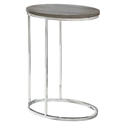 Prescott Modern Dark Taupe Oval Accent Table