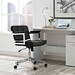 Presidio Classic Modern Black + Chrome Mid Back Office Chair