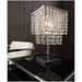 Prism Modern Table Lamp with Floating Crystals