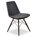 Prosper Modern Classic Dining Chair in Gray Leatherette