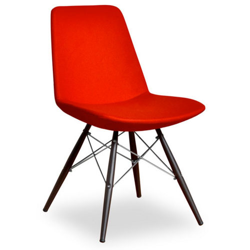 Prosper Modern Classic Dining Chair in Red Wool