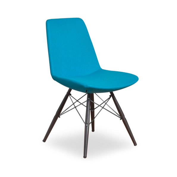 Prosper Modern Classic Dining Chair in Turquoise Wool