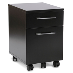 Purcell Modern Black Mobile File Cabinet