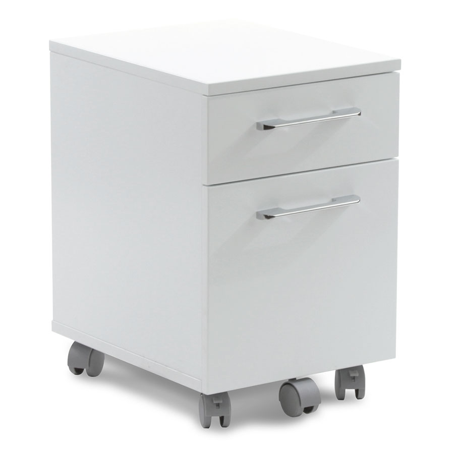 Purcell Modern White Mobile File Cabinet | Eurway Modern