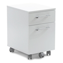 Purcell Modern White Mobile File Cabinet