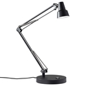 Quantum Modern Black LED Desk Lamp