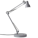 Quantum Modern Grey LED Desk Lamp