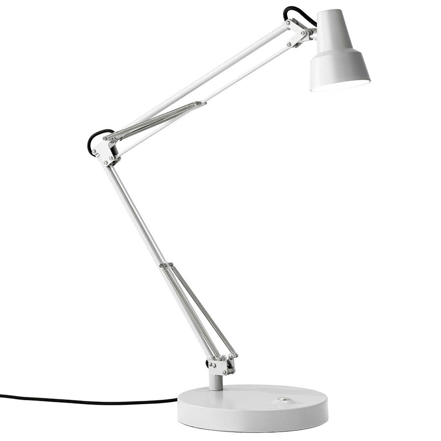 Quantum Modern White LED Desk Lamp