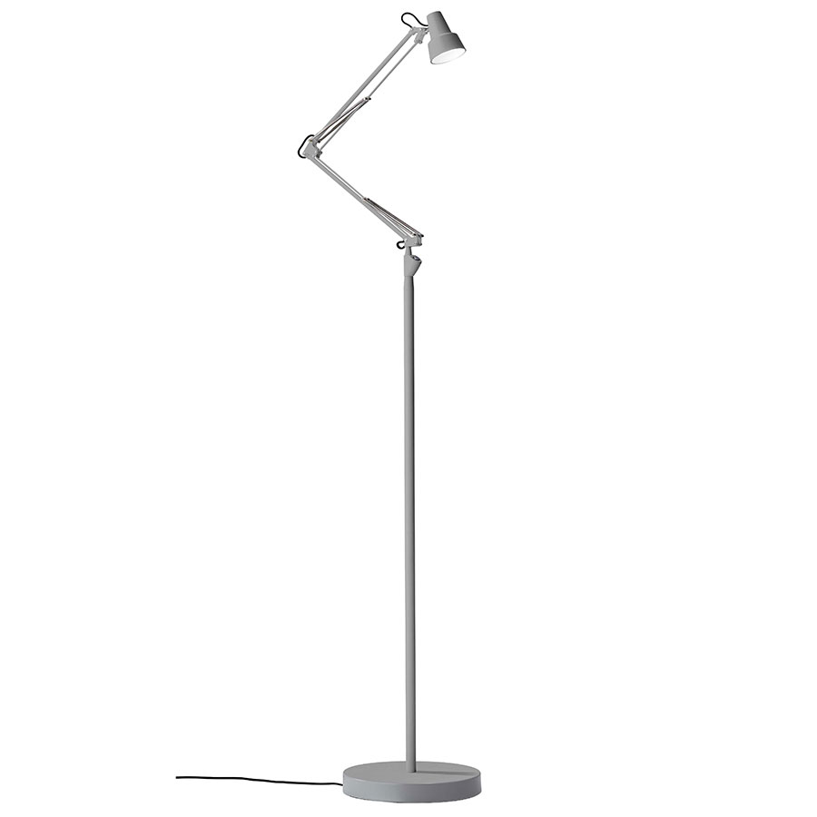 Quantum Modern LED Floor Lamp in Grey