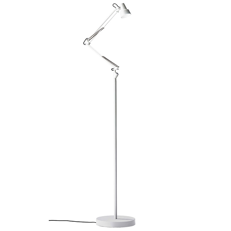Quantum Modern LED Floor Lamp in White