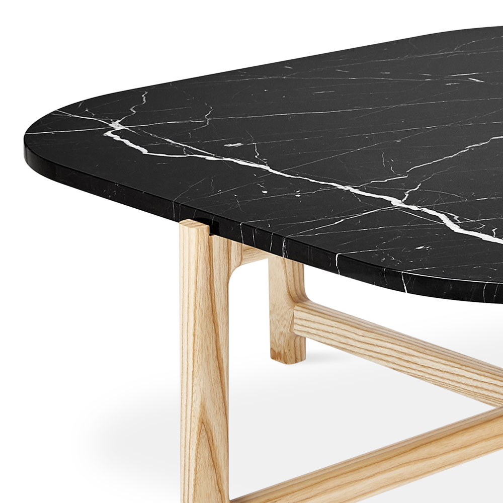 Gus* Modern Quarry Coffee Table In Nero