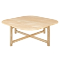 Gus* Modern Quarry Aurora Marble + Ash Hardwood Contemporary Coffee Table