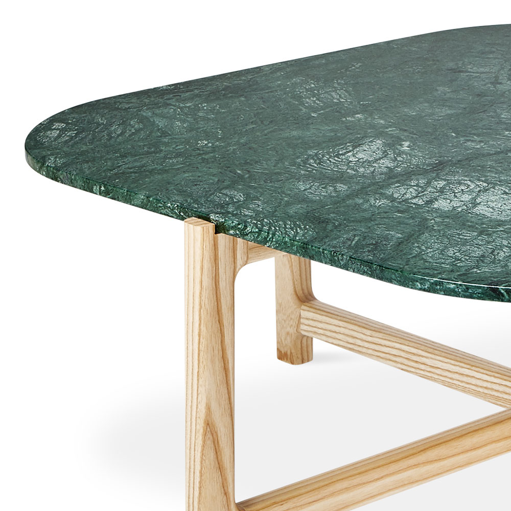 Gus* Modern Quarry Coffee Table In Verde
