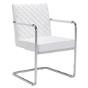 Quentin White Modern Arm Chair