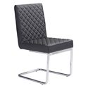 Quentin Black Modern Side Chair