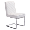 Quentin White Modern Side Chair