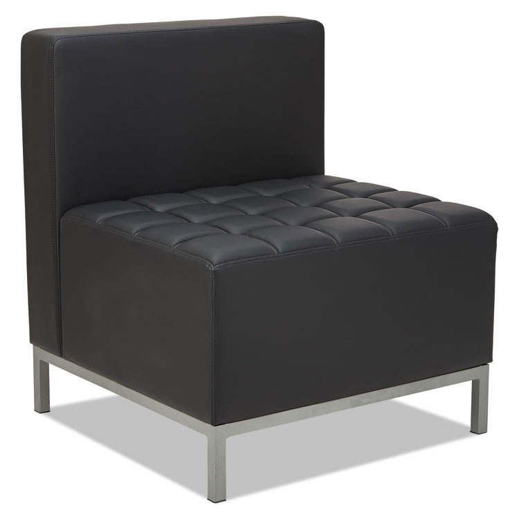 Quest Modern Black Leatherette Armless Chair