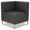 Quest Modern Black Leatherette Corner Chair