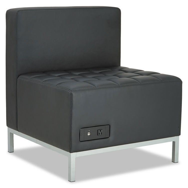 Call To Order · Quest Modern Black Leatherette Powered Armless Chair