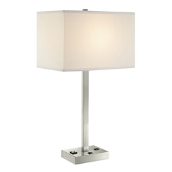 Quince Modern Brushed Nickel Table Lamp