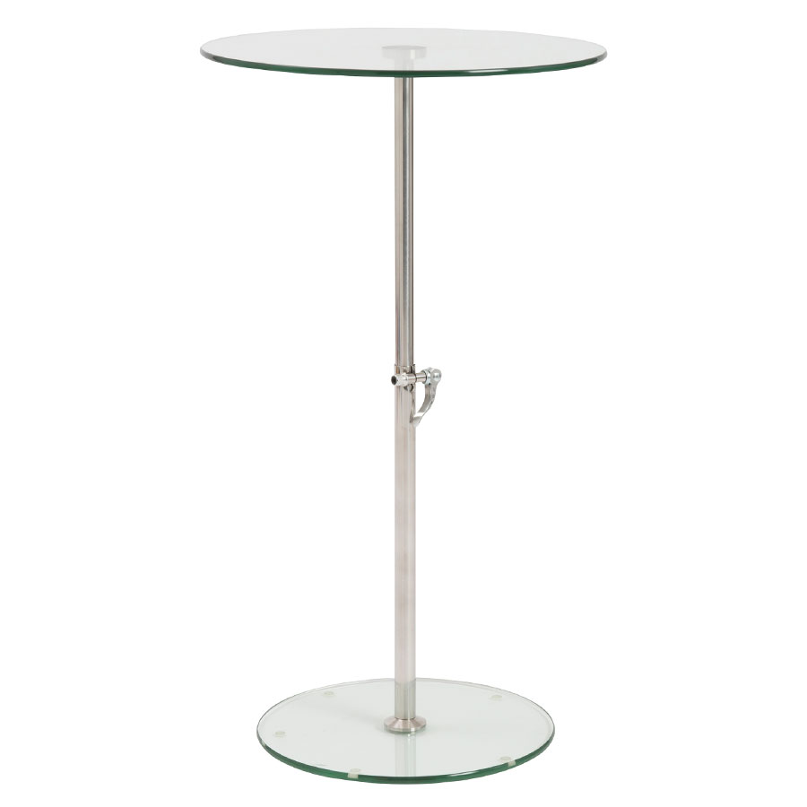 Call To Order · Rachel Adjustable Modern Side Table   Clear Glass