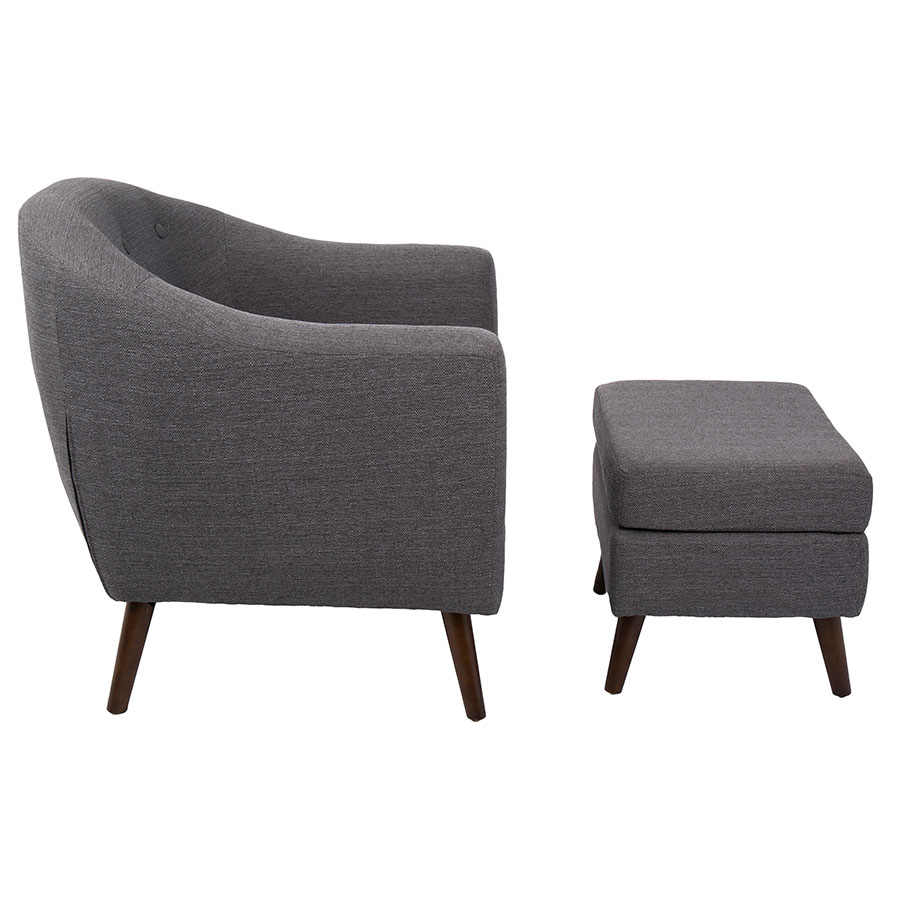 Grey Chair With Ottoman Chairs Amp Seating