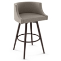 Radcliff Modern Swivel Bar Stool by Amisco in Oxidado + Shitake
