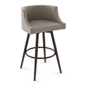Radcliff Modern Swivel Counter Stool by Amisco in Oxidado + Shitake