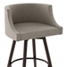 Radcliff Modern Swivel Counter Stool by Amisco in Oxidado + Shitake - Seat Detail