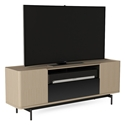 BDI Radius Modern Media Stand in Drift Oak