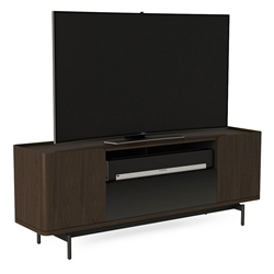 BDI Radius Modern Media Stand in Toasted Walnut