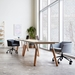 Gus* Modern Radius Modern Office Task Chair in Bayview Silver Fabric with Black Powder Coated Steel Base - Lifestyle
