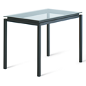 Raiden Clear Glass + Metal Modern Bar Height Table