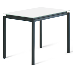 Raiden White Glass + Metal Modern Bar Height Table