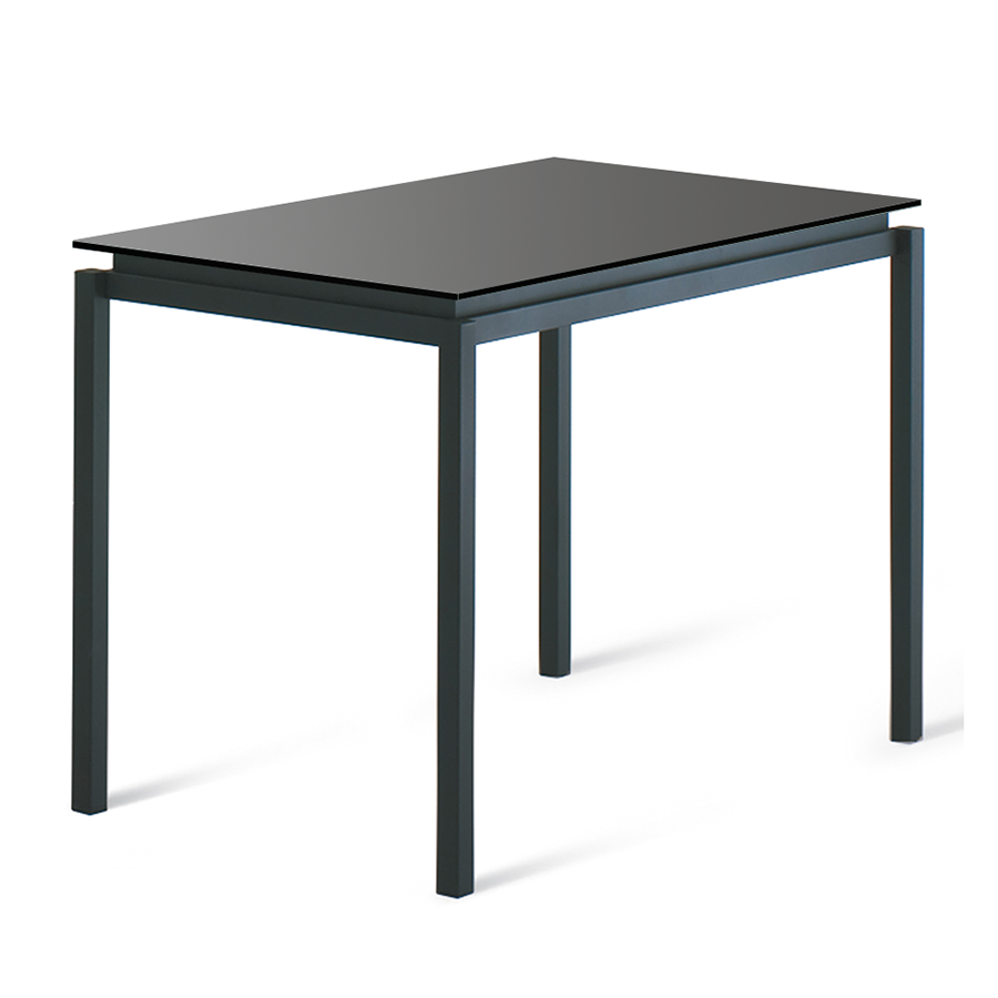 modern counter height table. Call To Order · Robert Black Glass + Metal Modern Counter Height Table
