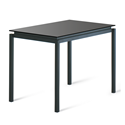 Robert Black Glass + Metal Modern Counter Height Table