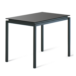 Raiden Black Glass + Metal Modern Counter Height Table