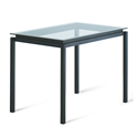 Robert Clear Glass + Metal Modern Counter Height Table by Amisco