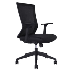 Rainbow Modern Black Office Chair
