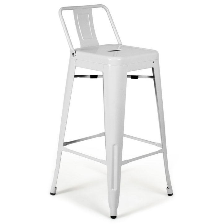 Raleigh modern low back white bar stool eurway Home bar furniture raleigh nc