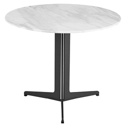 Ramili Round White Marble Side Table by Euro Style