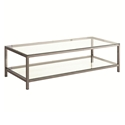 Ramsey Modern Black Nickel Coffee Table