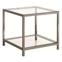 Ramsey Modern Black Nickel End Table