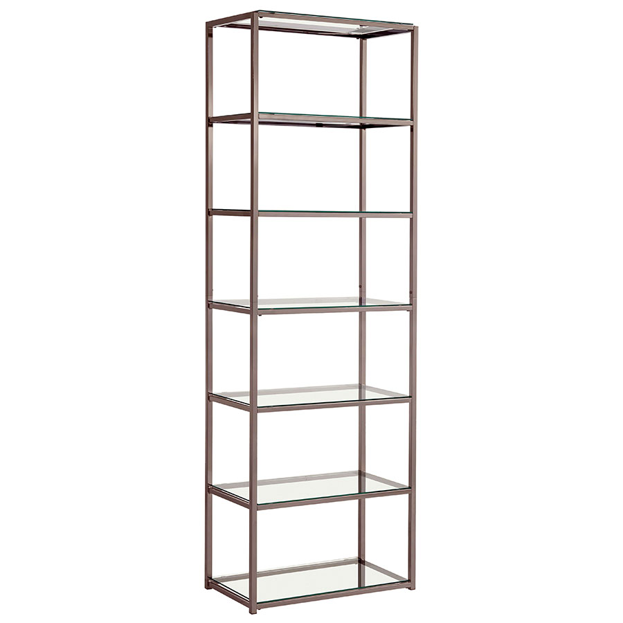Metal and glass bookcase Vintage Ramsey Modern Tall Bookshelf Eurway Modern Shelving Contemporary Bookcases Eurway