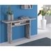 Rancor Vintage Wash Modern Console + Dining Table - Room Shot