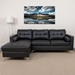 Randall Black Contemporary Tufted Left Chaise Sectional Sofa