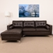 Randall Brown Contemporary Tufted Left Chaise Sectional Sofa
