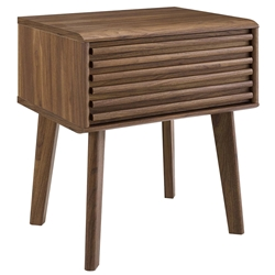 Ravenna Modern Walnut End Table Nightstand