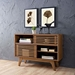 Ravenna Contemporary Walnut Low Storage Cabinet