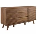 Ravenna Modern Walnut Sideboard Buffet Server